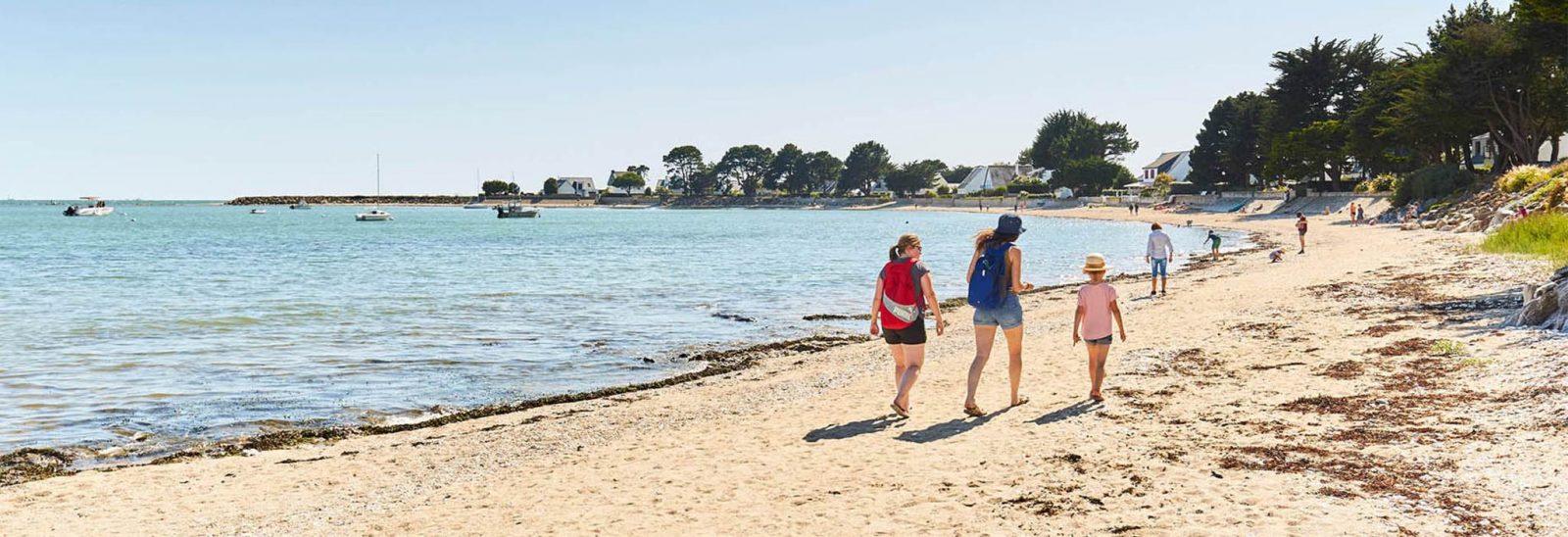 Plage du Bil Damgan Morbihan
