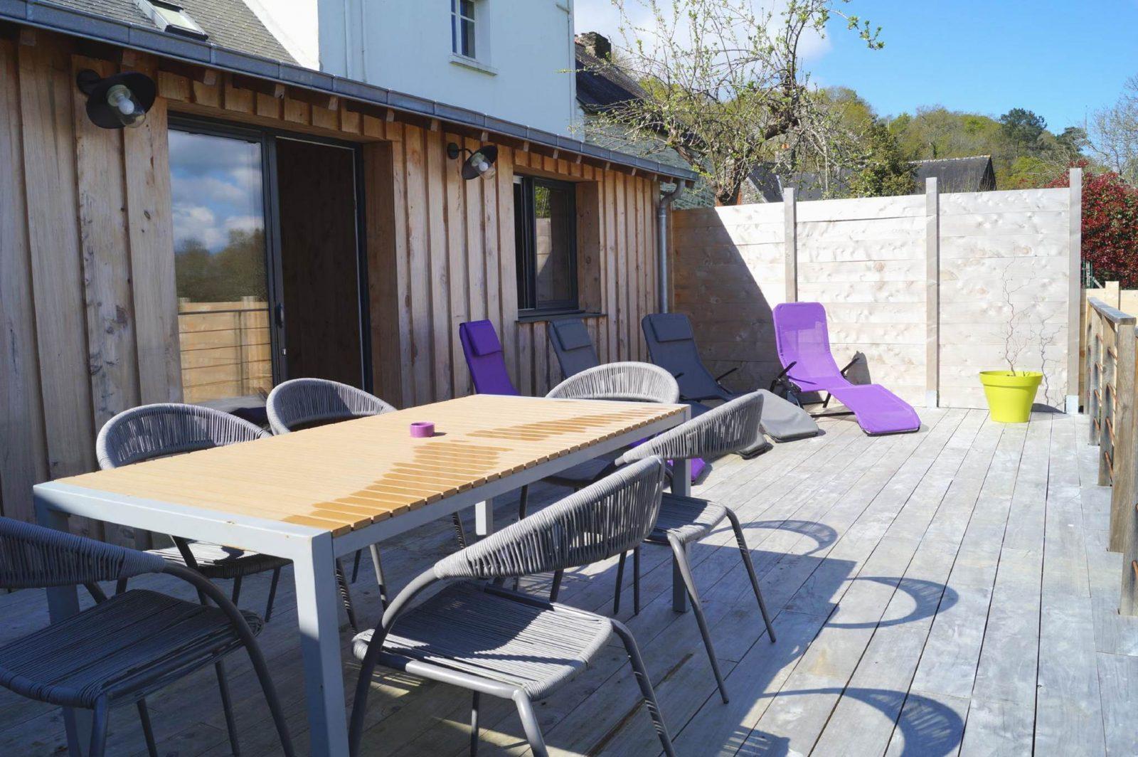 Terrasse – Chambre Au Val de Vilaine – St Dolay – Tourisme Arc Sud Bretagne