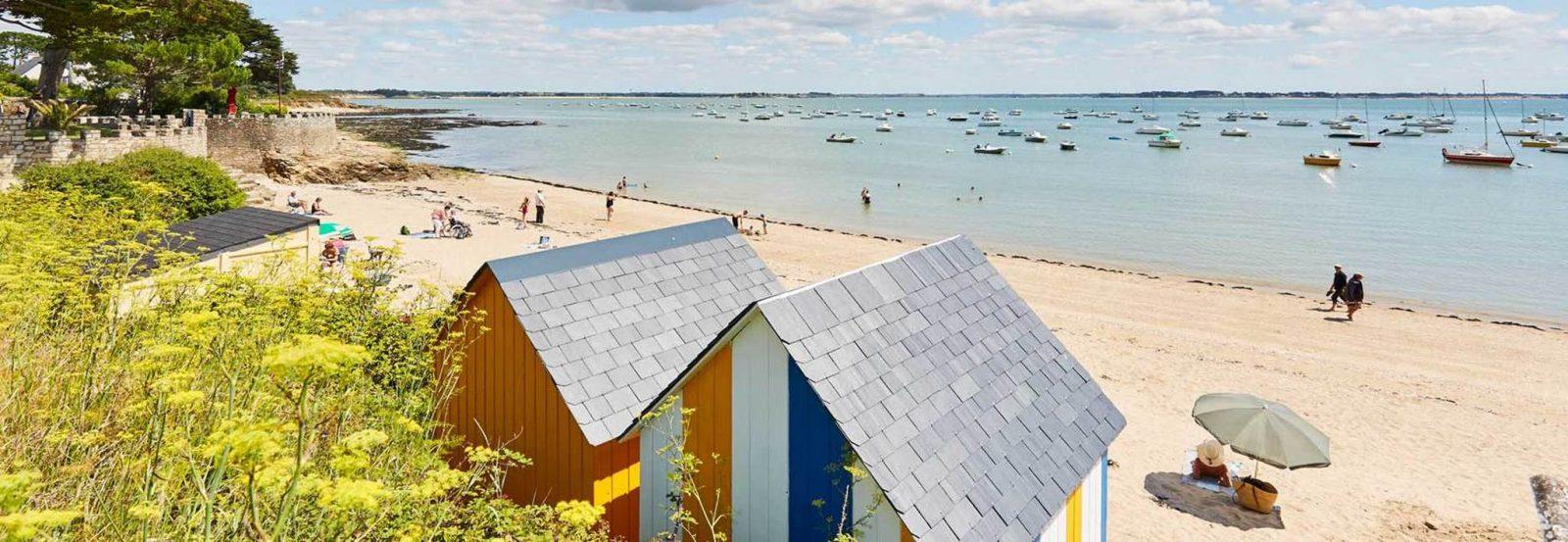 Petite plage de Kervoyal Damgan Morbihan