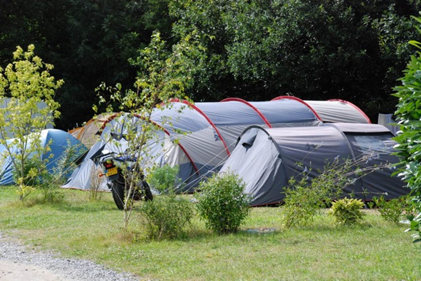 Emplacement nu avec tente au Camping LA BLANCHE HERMINE