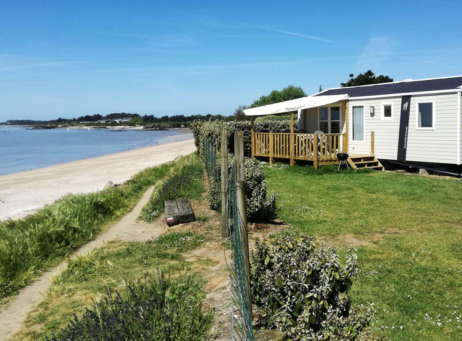 Camping Les Goélands – Mobil home 3 chambres face à la mer –
