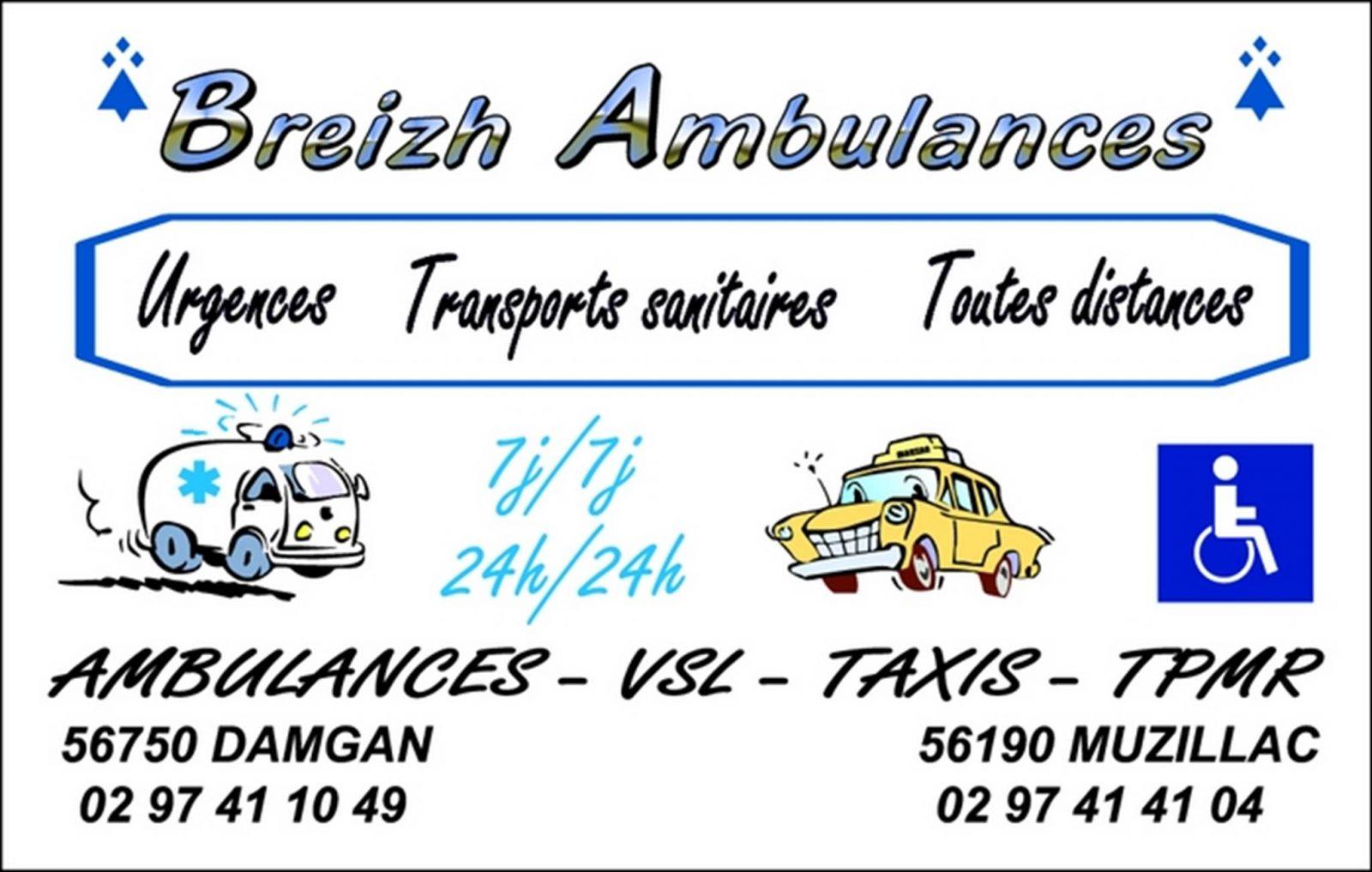 Breizh Ambulances Damgan Morbihan