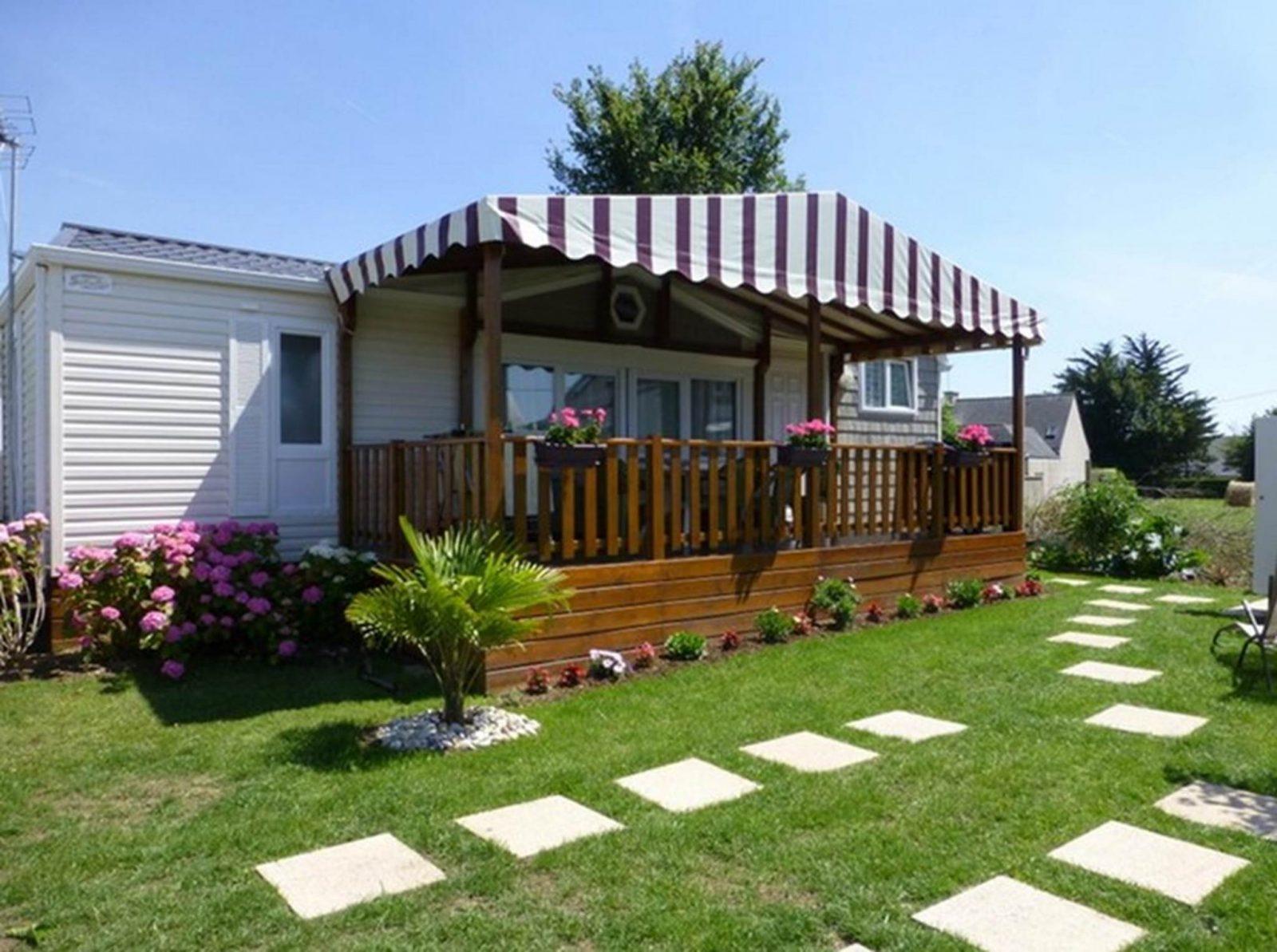 Camping Parc Les Goélands à Ambon- Location mobil home 3 chambres de luxe