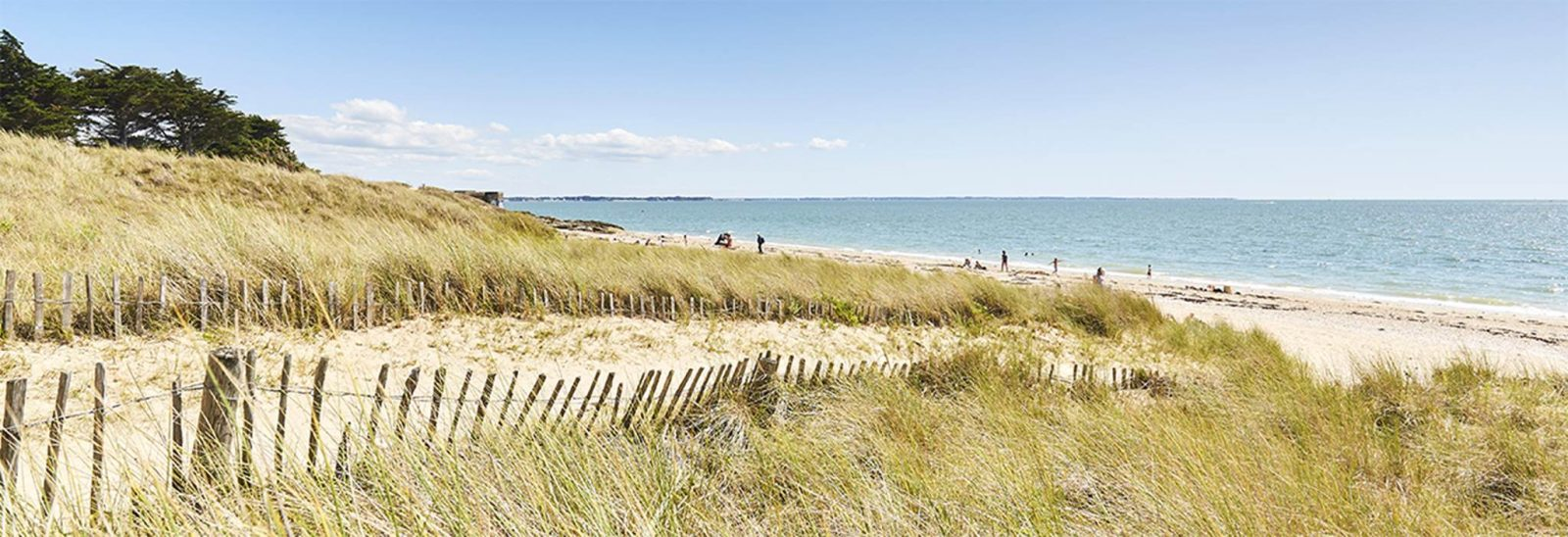 Grande plage de Kervoyal Damgan Morbihan
