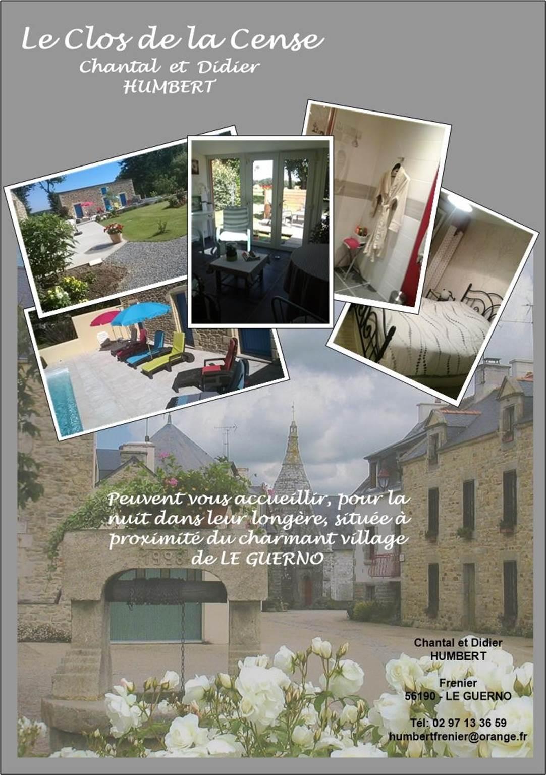 Chambres d'hôtes Humbert Le Guerno Morbihan