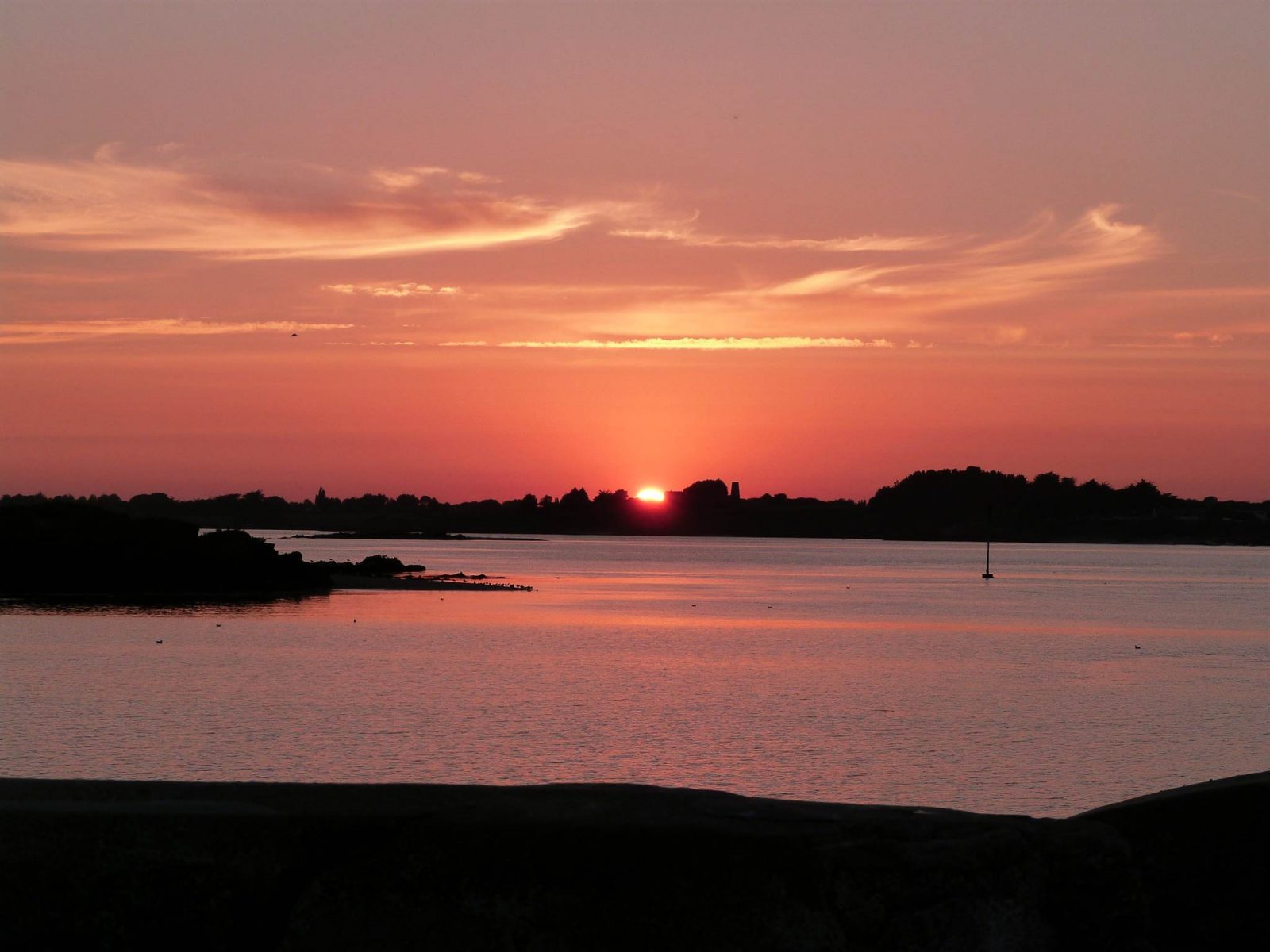 coucher de soleil à Billiers